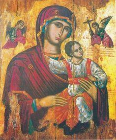 Byzantine Art, Byzantine Icons, Jesus Painting, Orthodox Icons, Mother Mary, St Michael, Religious Art, Madonna, Jesus Christ