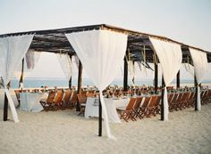 tropical beach tent - the Beach version of boho-luxe, chic, rustic! LOVE