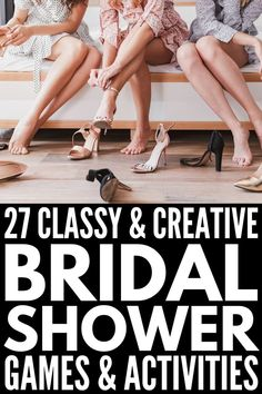 Looking for bridal shower games and activities that aren't lame? These unique ideas are perfect for small gatherings and large groups, and won't disappoint! Bridal Shower Activities, Fun Bridal Shower Games, Bridal Bingo, Large Group Games, Fun Group Games, Small Groups, Hen Games, Chelsea Wedding, Home Spa Treatments