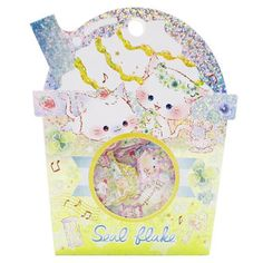 Goods mail order cinema collection for children of seal exchange woman with 50 pieces of BLOOMING CLOVER flake seal めちゃ Kira mini-seal shake cup type Kamio Japan