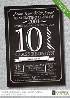Chalkboard Class Reunion Invitation on Etsy, $18.50