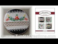 Hungarian folk art cookies, black 14. - YouTube