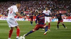 Barça-Sevilla. Piqué, magnífico en la final de la Copa del Rey