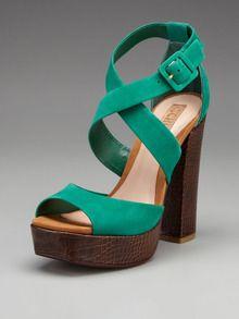 Schutz sandals on Gilt. Love the color!