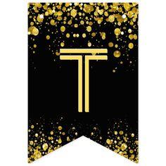 Banderines confeti del oro del ☆HAPPY BIRTHDAY☆ | Zazzle.com Carrie, Happy Birthday Signs, Baby Stickers, Bold Typography, Graduation Decorations, Gold Confetti, Bunting Banner, Flag Design, Cellphone Wallpaper