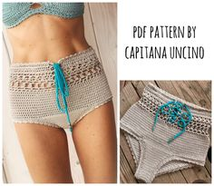 This listing is PDF CROCHET PATTERN for Angela Highwaist Bikini Bottom, Not finished item:) Skill level: EASY, INTERMEDIATE You should know the basic stiches: chain stitch, single crochet, slip stitch, double crochet. All the other sticthes used in the pattern are explained. This pattern is writ