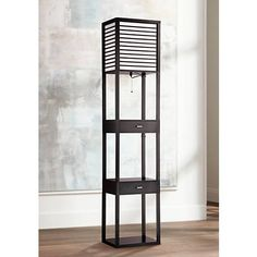 Tamber Etagere Floor Lamp with Shelf and Drawers
