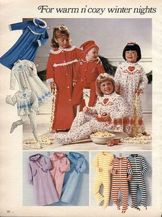 1983-Sears Christmas Catalog I had those pjs in the middle- the white and red ones.