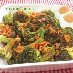Esta receta de brócoli con ajada es muy sencilla y la salsa la puedes usar también con otras verduras cocidas o al vapor.