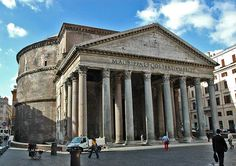 "Today's Pantheon, the oldest large public building in use in the world, is the work of Hadrian (76 - 117 - 138 (62)), who rebuilt a 27BC south facaded structure erected by Augustus' contemporary and latterly son-in-law Marcus Vipsanius Agrippa (""M.Agrippa"" - now that's a power name if ever there was one - that's him on the left in the Louvre Museum).  Hadrian, the great builder Emperor,  was nice enough to have Agrippa's name put on the new north facing facade."