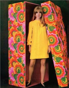 unpacking your seventies doll... :)  LOVE this!