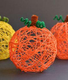 How to Make Yarn Pumpkins Using Balloons