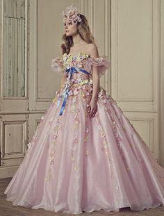 Rental Wedding Dresses, Pink Wedding Dresses, Wedding Gowns, Dress Rental, Sweet 16 Dresses, Pretty Dresses, Yumi Katsura Wedding Dresses, Ball Dresses, Ball Gowns
