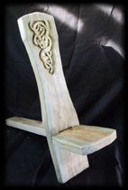 Viking chair with wood carving