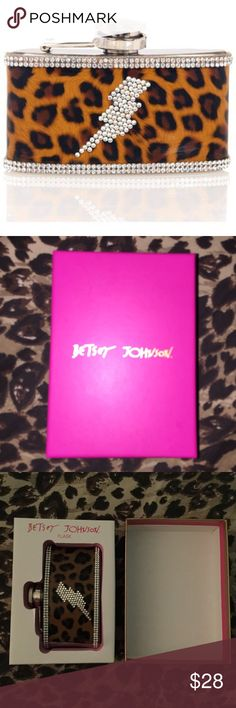 Betsey Johnson flask Brand new never taken out of package betsey Johnson flask. It is stainless steel. Super cute& unique! No holds or trades, price is firm due to posh fees! 070717799 Betsey Johnson Accessories