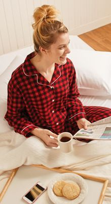 Expecting a snow day tomorrow? Sleep in a little and enjoy breakfast in bed in your favorite pajamas