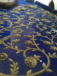 Craftmanship!! Dabka, sequin -hand embroidered