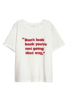 Camiseta con motivo estampado - Blanco 14,99 > 7,49 EUR | H&M