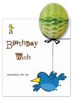 3d greeting card from Pulp - paperJOY