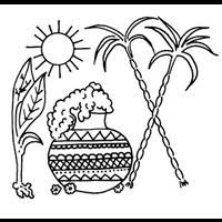 Image Result For Outline Of Pongal Pot Pongal Celebration Emoji Coloring Pages Outline Images