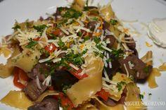 Pappardelle with Eggplant and Mushroom Ragu