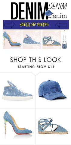 """""""JEAN OR LEAVE"""" by devin-10 ❤ liked on Polyvore featuring Minna Parikka, Topman, Christian Louboutin, Aquazzura and STELLA McCARTNEY"""