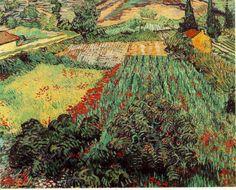 「ヒナゲシの咲く野原」 1890   71 x 91 cm , ブレーメン美術館
