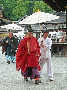 Shimogamo shrine. Kyoto Japan. Heian era costume.