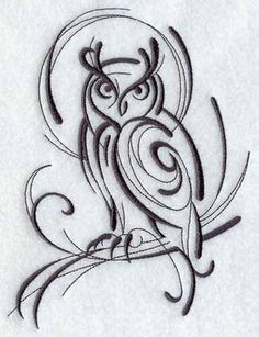 Abstract owl design
