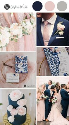 romantic navy blue and pink floral laser cut wedding invitations . - romantic navy blue and pink floral laser cut wedding invitations # wedding …, - French Blue Wedding, Blue And Blush Wedding, Pink Wedding Theme, Spring Wedding Colors, Blush Pink Weddings, Dream Wedding, Romantic Wedding Themes, Colors For Weddings, Color Scheme Wedding