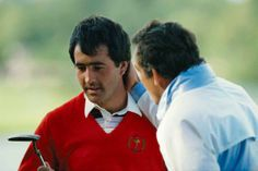 Tony Jacklin encourages Seve Ballesteros at The Belfy in 1985. #RyderCup