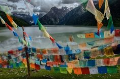 this is a picture of Tibet, but I see people fly flags exactly like this here in town. It's not always there, but sometimes it is and I want to know it's significance. Someone help me out.