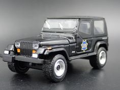 Greenlight 1:64 Scale LOOSE Collectible Gunmetal Gray 1990 JEEP WRANGLER 4X4