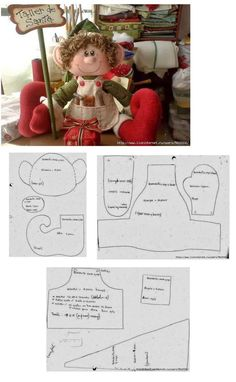Make gnomes & fairies from this pattern. Christmas Projects, Felt Crafts, Holiday Crafts, Christmas Sewing, Felt Christmas, Christmas Ornaments, Sewing Crafts, Sewing Projects, Felt Patterns