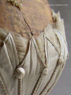 1830 antique silk bodice No.112030