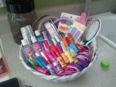 Little girl bathroom basket