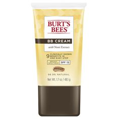 Shop the best Burt's Bees BB Cream with Noni Extract SPF 15 - Light/Med oz Cream products at Swanson Health Products. Trusted since we offer trusted quality and great value on Burt's Bees BB Cream with Noni Extract SPF 15 - Light/Med oz Cream products. Best Drugstore Tinted Moisturizer, Drugstore Bb Cream, Drugstore Makeup, Burt's Bees Bb Cream, Selena Gomez, Concealer, Beauty Balm, Beauty Skin, Beauty Makeup
