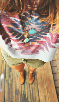 Aztec Soft Knit Top