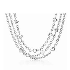 HEART Engagement Rings Necklace