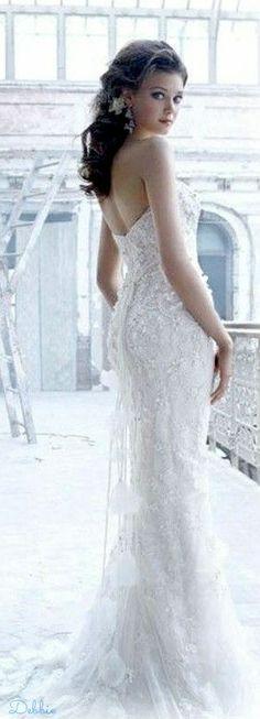 Lazaro ~ Debbie ❤ Wedding Bride, Wedding Gowns, Dream Wedding, I Got Your Back, Here Comes The Bride, Wedding Accessories, Wedding Styles, Brides, Bloom