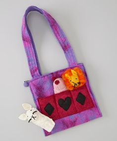 Take a look at this Purple Animal Wool Tote by Royal Handicrafts on #zulily today! $14 !!