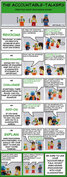 Accountable Talk with Legos.....the topic challenging for my students but love the idea. Would modify to meet the needs of my students