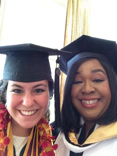 Howtogetawaywithmurder cast milauna jacksonville as ada renee twitterfeeling very proud and powerful with valedictorian jana shapiro at uscs graduation honorarydoctorate pic ccuart Gallery