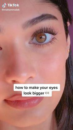 Edgy Makeup, Makeup Eye Looks, Cute Makeup, Skin Makeup, Makeup For Big Eyes, Makeup For Round Face, Makeup Tutorial Eyeliner, Makeup Looks Tutorial, Maquillage Normal