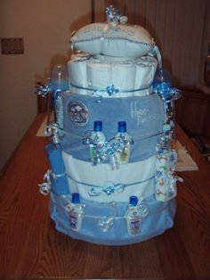 Diaper Cake 1st try