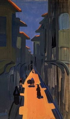A street. Noon., 1910 - Martiros Sarian. Symbolism. cityscape. Tretyakov Gallery, Moscow, Russia.