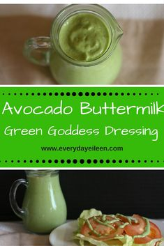 Avocado Buttermilk Green Goddess Dressing is a low-fat salad dressing! Perfect salad dressing for any salad! Easy to prepare for your family and friends