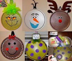 Pizza Pan Ornaments, DIY and Crafts, Pizza Pan Ornaments. Christmas Crafts To Sell, Christmas Ornament Crafts, Homemade Christmas, Christmas Projects, Simple Christmas, Kids Christmas, Holiday Crafts, Christmas Decorations, Christmas Pizza