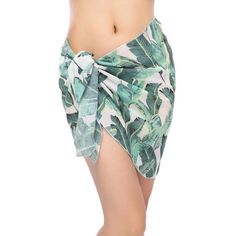 Official Website Butterfly Print Sarong Scarf Beach Wrap Pareo Swim-wear Summer Holiday New