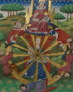 The wheel of fortune by Anonymous - print